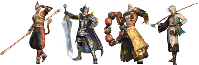 Four Warriors Orochi Guest Characters