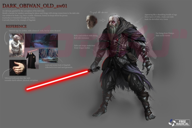 An image of Sith Obi-Wan Kenobi, a possible playable character in the cancelled Battlefront 3 game. SOURCE - Free Radical