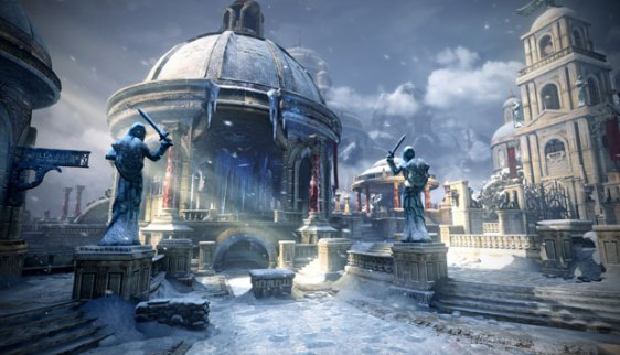 A screenshot from the new DLC map, Haven, for Gears Judgment