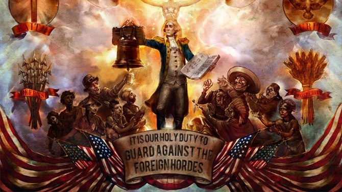 Bioshock Infinite is heavily influenced by early American exceptionalism.